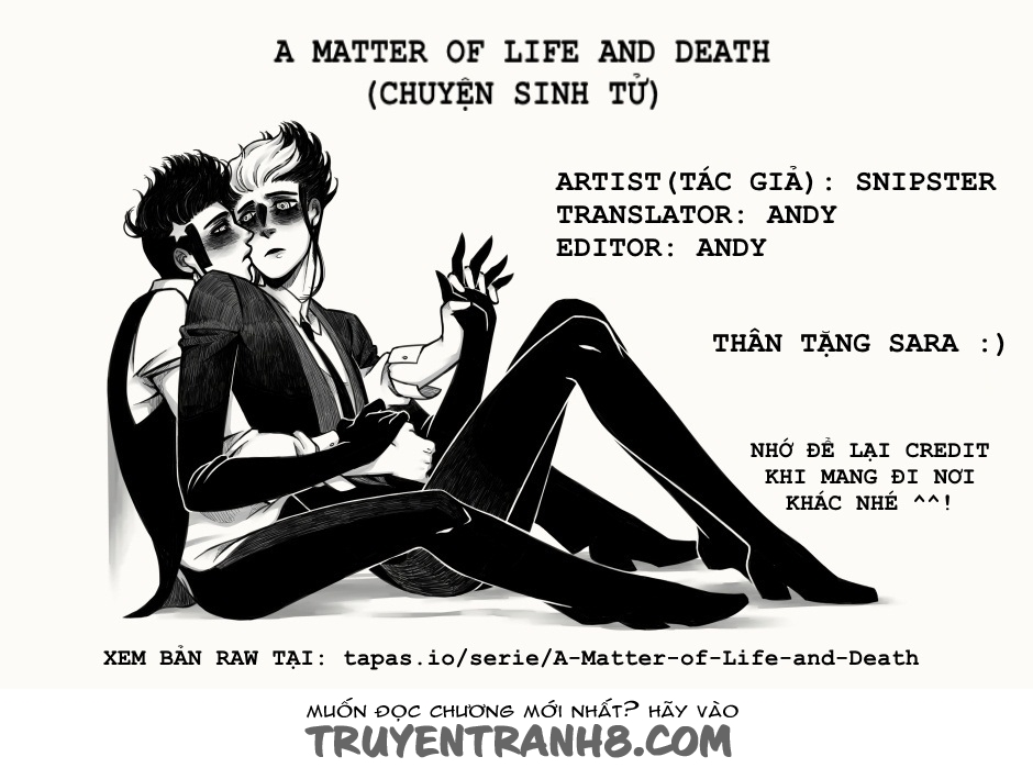 A Matter Of Life And Death Chap 1 Trang 1
